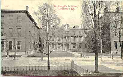The Old St Joseph's Infirmary, 1911 Postcard