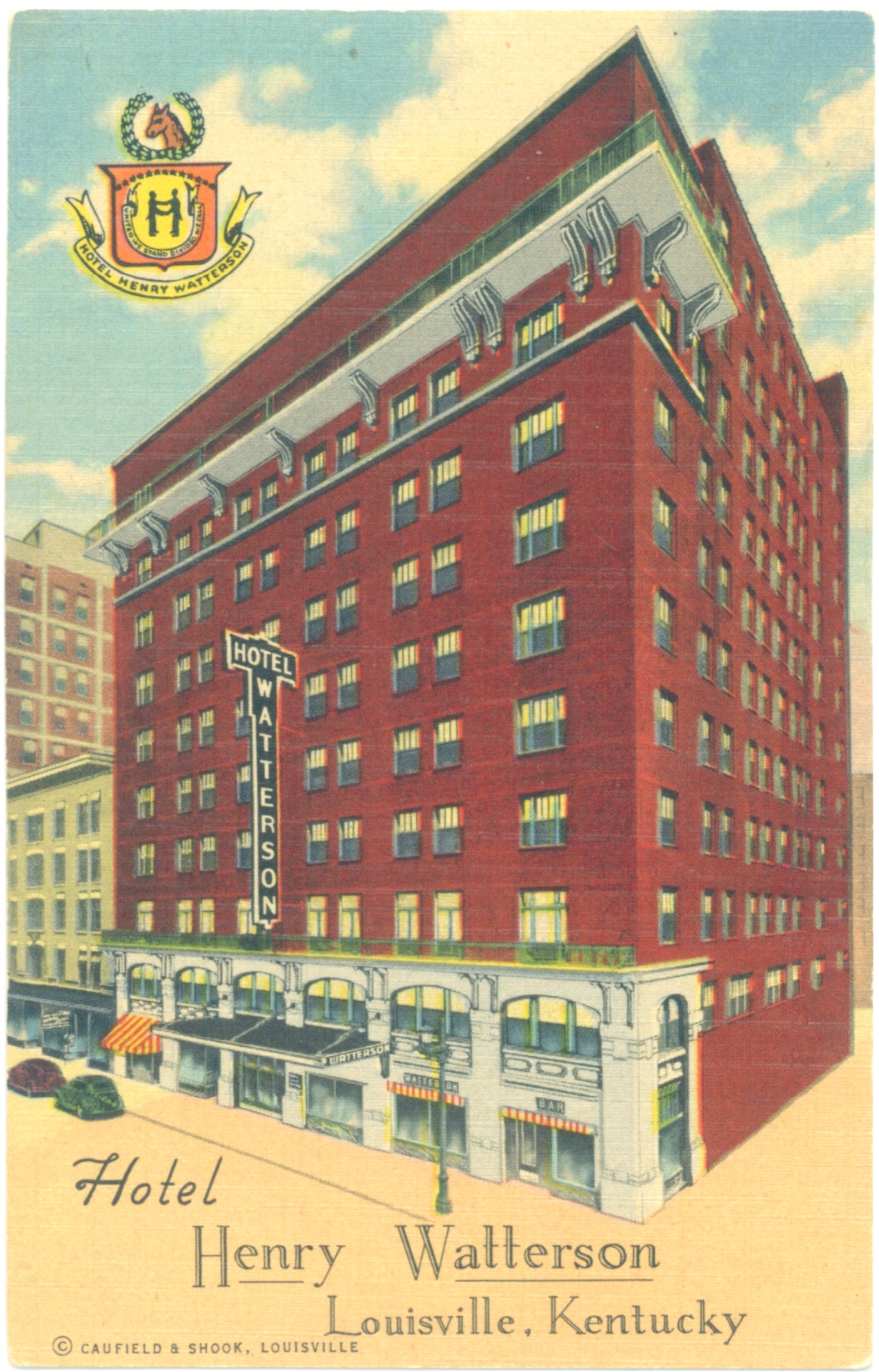 Vintage post cards from louisville hotels for Watterson dining