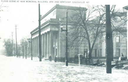 Vintage Post Cards Of Old Louisville 1937 Flood Memorial Auditorium