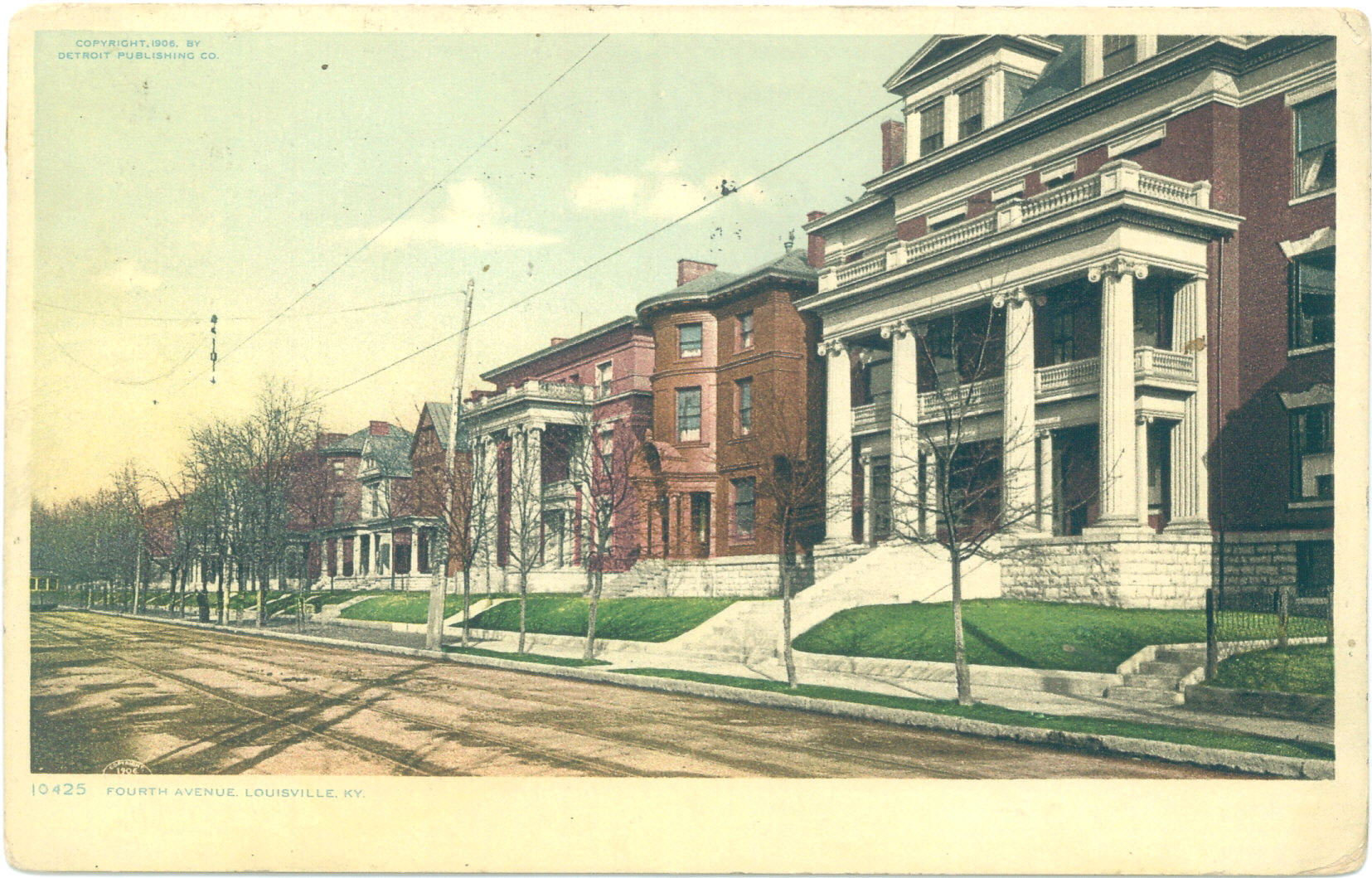 Vintage Post Cards Of Old Louisville Fourth Avenue 1906