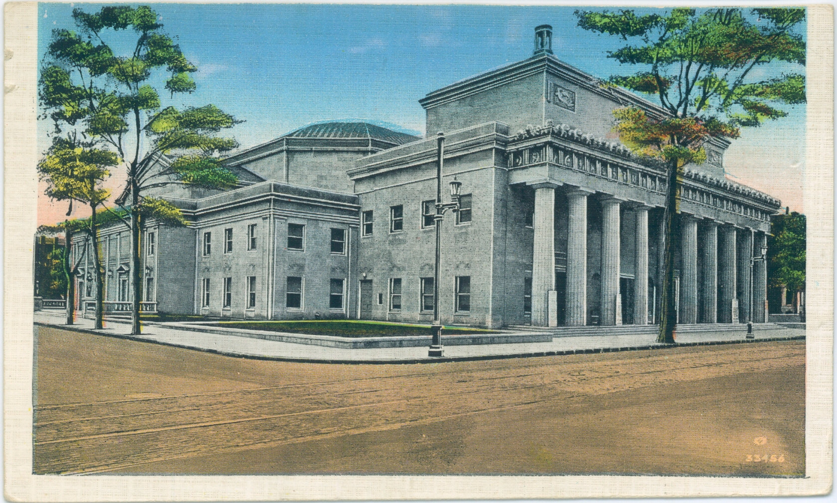 Vintage Post Cards Of Old Louisville Fourth Avenue At Kentucky Memorial Auditorium