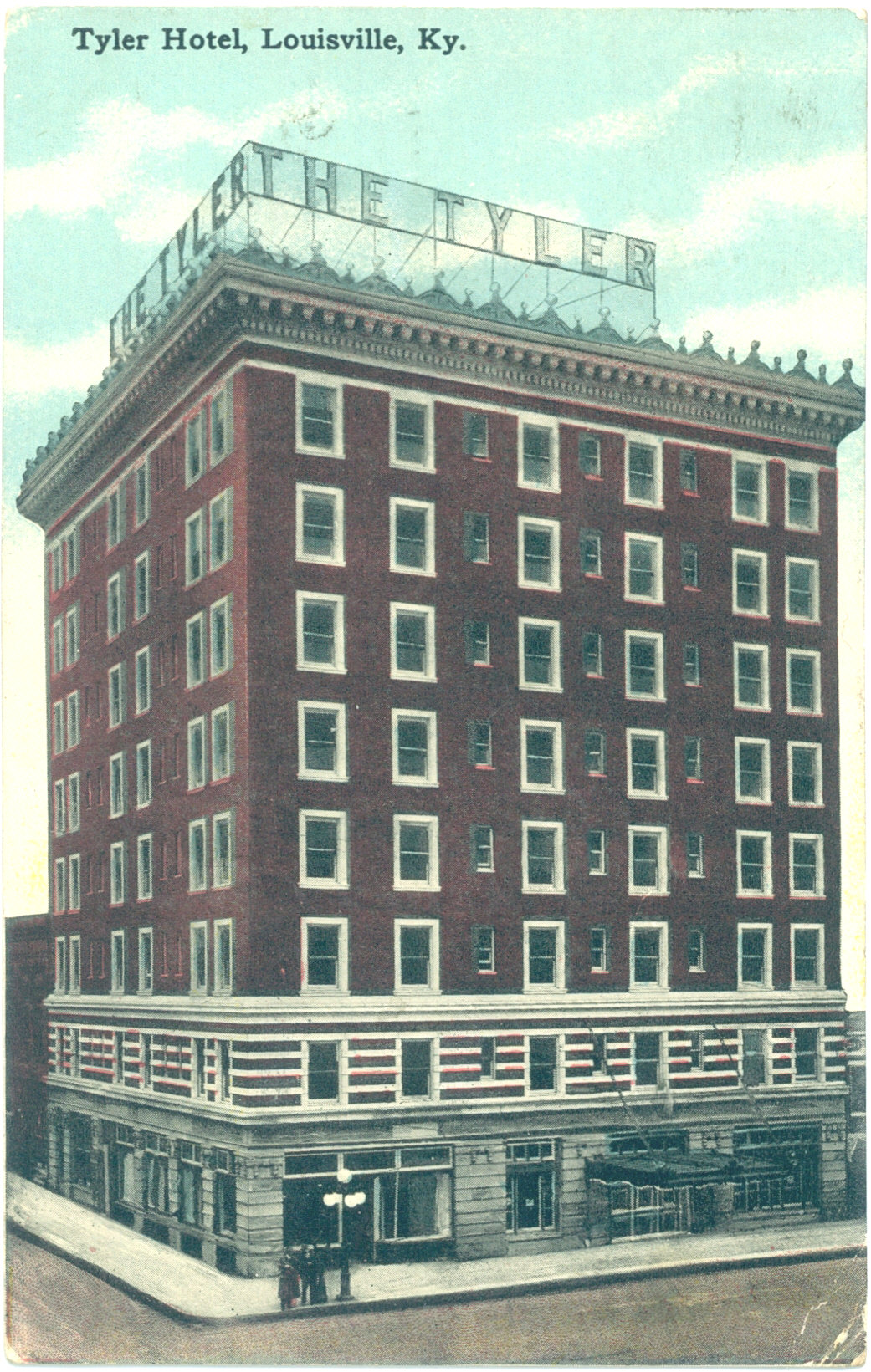 Tyler Hotel Louisville Ky The Recently Razed Milner Post Card Mailed In 1915