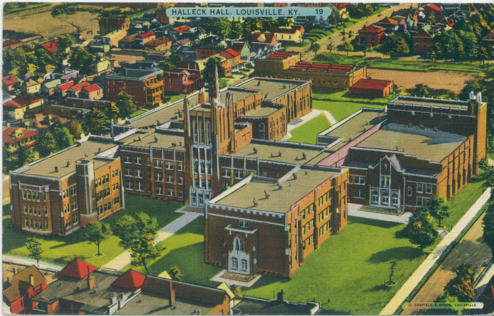 Vintage Post Cards of Old Louisville - Halleck Hall. ""